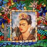 "Homage to Frida 10"" x 10"" Mosaic"