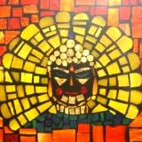 "Buddha 10"" x 8"" Glass on Glass Mosaic ~ Sold"